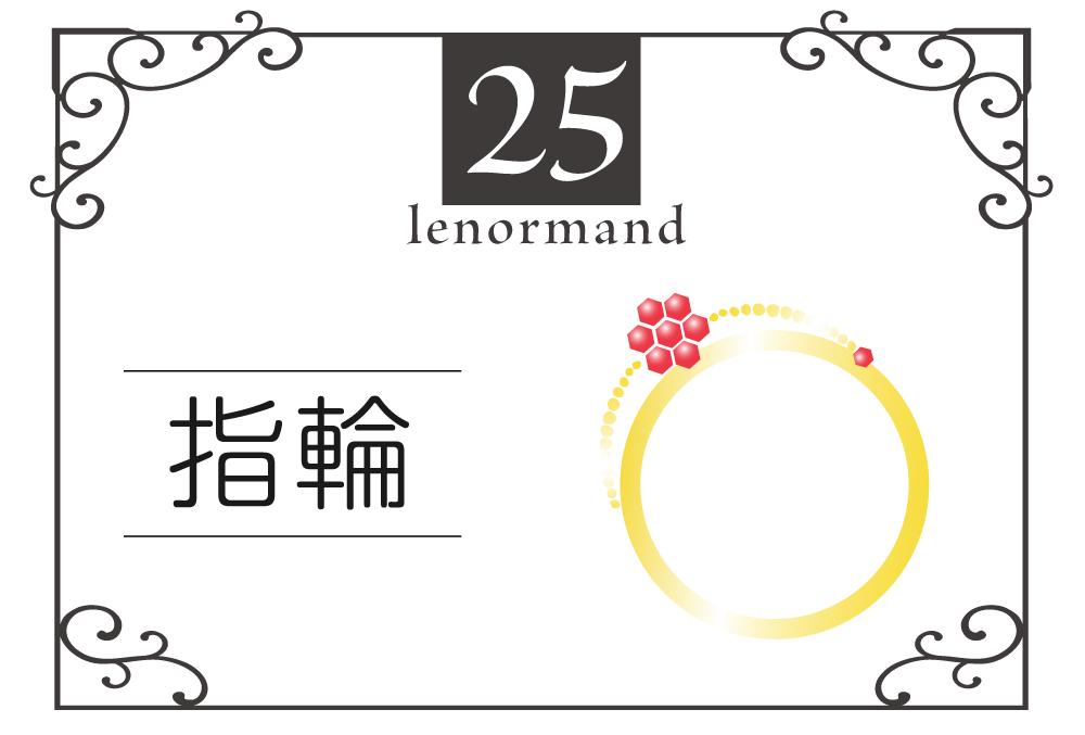ルノルマンカード25番・指輪の意味は「約束、パートナーシップ」・キーワードや 組み合わせ(コンビネーションリーディング)まで完全紹介【吉】