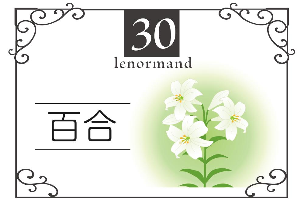 ルノルマンカード30番・ユリの意味は「熟成、平安、老人」・キーワードや 組み合わせ(コンビネーションリーディング)まで完全紹介【中立】